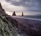Strange Rock Patterns Close To Reynisdrangar Sea Stacks