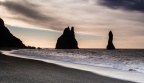 A View Of The Reynisdrangar Sea Stacks From The Beach